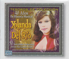 CD - Yolanda Del Rio NEW Tesoro De Coleccion 40 anos 3CD - FAST SHIPPING !
