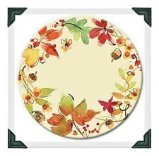 "Counter Art 13"" Glass Lazy Susan Serving Plate, Fruitful Harvest NIB"