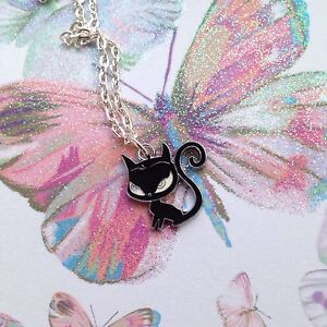 """Cat (Emily The Strange)  Enamel 18"""" Necklace"""