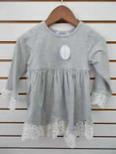 Toddler & Girls Just Blanks Gray Heather Monogramable Dress Size 24 Months - 10