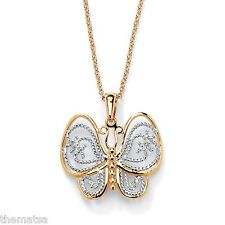 """BUTTERFLY 18K GOLD PLATED PENDANT CHARM AND 18"""" NECKLACE CHAIN"""