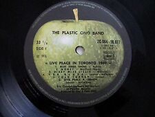 "JOHN LENNON PLASTIC ONO BAND ""LIVE PEACE 1969"" FRENCH BEATLES  IMPORT NEAR MINT"