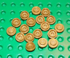 Lego - Plate Specialty 1 x 1 Round Stud (X9) Pearl Gold