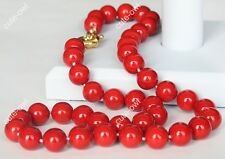 "Pearl Necklace 18 ""Aaa New 10mm Red South Shell"