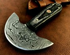Handmade Damascus Steel Round Head Saddler Leather Workers Tool-QD7