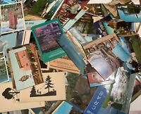 Large Lot 50 Vintage ASSORTED Postcards US Cities Natl Parks Linen  Used Unused