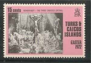 Turks & Caicos Islands #251 VF MNH - 1972 15c The Three Crosses by Rembrandt