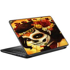"""Skin Decal for HP 2000 Laptop (2013-14) 15.6"""" 15"""" / Skull Girl Dia de Los Muert"""