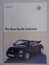 VW Beetle Cabriolet brochure 2003/4 - 1.4 litre, 1.6 litre, 2.0 litre, 1.9 TDi