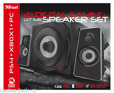 TRUST 2.1 GXT 638 120W DIGITAL SPEAKER SET FOR PC WII SONY PS3 PS4 XBOX ONE 360