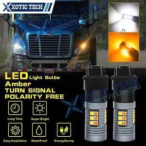 For Freightliner Cascadia 2008-17 Switchback LED Turn Signal Parking Light Bulbs