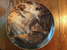 Franklin Mint Tranquil Morning Plate Authenticity Paperwork collectible