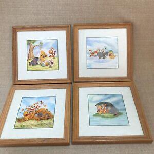 Disney Winnie The Pooh 100 Acre Wood Art Prints Nursery Pictures Set of 4
