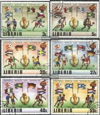 Liberia 1187-1192 (complete issue) fine used / cancelled 1981 Football-WM 1982,