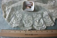 "French Antqiue 19thC Handmade Lace Jabot~Dolls,Bridal~L-48"" X Depth-15"""