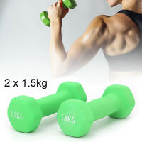 1.5kg Dumbbell Set Solid Aerobic Training Weights Strength Home Dumbbells Gym