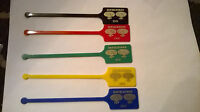 DoubleTree Inn Swizzle Sticks Drink Stirrers Set of 5 - Different colors Plastic