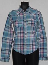 Hollister California womens cotton long sleeve check shirt size XS