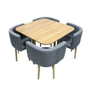 New Cafe Table Set/Dining Table+4 Chairs Set Furniture Home Kitchen Living Room