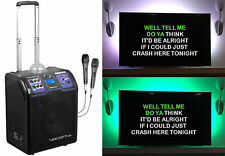 Vocopro Lightshow Rechargeable Bluetooth Karaoke Machine System+Stand+LED Strip