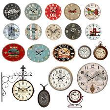 Mur stand Rétro design Shabby horloges bois antique affichage de l'heure