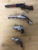 *VNTG* Mini Gun Replicas Shotgun, Rifle, Pistols Handcrafted LOT OF 4