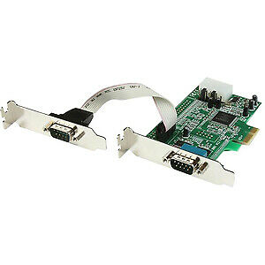 NEW! Startech 2 Port Low Profile Native Rs232 Pci Express Serial Card With 16550