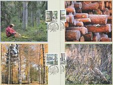 Sweden 2000 FDC - Maxi Card no 149 -152 - 4 Cards - The Forest