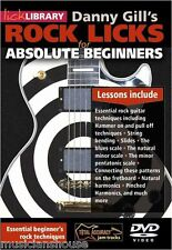 LICK LIBRARY DANNY GILLS ROCK LICKS for ABSOLUTE BEGINNERS Guitar DVD & TAB SONG