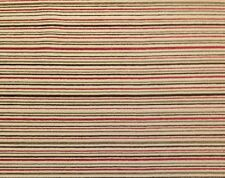 "Jordan Fabrics Chenille Stripes Red Brown Heavy Upholstery By The Yard 58""W"
