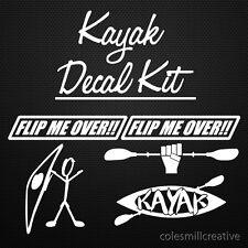 Kayak Decal Kit, sticker, kayak, canoe, paddle, river, Cool!!