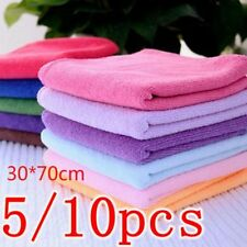 1/5/10PCS Couleur aléatoire 30 * 70cm Coton Doux Tissu Lavage Douche Lavable