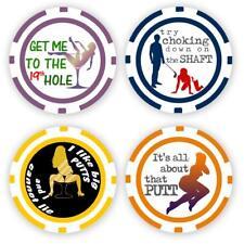 Golf Ball Marker Poker Chips, 4 chips (11.5 gram chips)