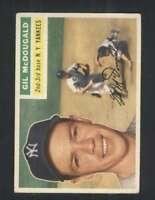 1956 Topps #225 Gil McDougald EX/EX+ Yankees 94747