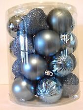 26 Turquoise Blue 2.25 IN Assorted Shatter Resist Ornament Christmas Decoration