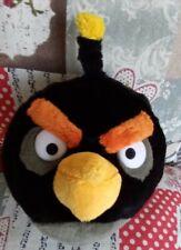 "Plush  Toy Angry Birds. Original product of Rovio 9""= 23 cm  Bomb Black bird"