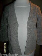 Wet Seal, Heather Gray/White, 3/4 Sleeve Cardigan X-Small, Peplum Look
