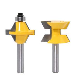 8mm Schaft 120 Grad Flush Schablonenfräser Nut Meißel Fräser Holzbearbeitung