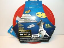846998080729 Nerf Dog Flyer Medium Red