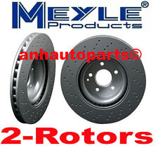 2-Meyle GEOMET®Anti Rust Coated Front Crossdrill  Rotors  w/o Sport Packagage