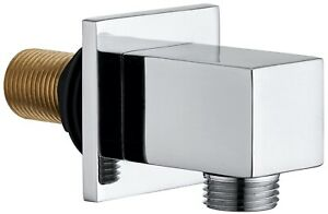 Keenware KSA-004 Brass Shower Wall Elbow Outlet: Square