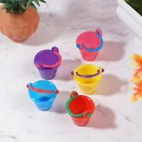 5pcs 1:12 Home Mini Dolls Bathroom Decor Colorful Water Bucket Model Toy Decor
