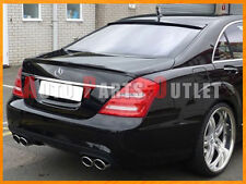 #040 Black - W221 M-BENZ S-Class AMG Trunk Wing Lip & L-Type Roof Spoiler 07-13