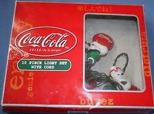 Coca Cola String Light Set Soda Strand Christmas Decoration Polar Bears w/ Box