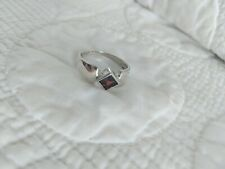 Sterling Silver Garnet Ring Size 9