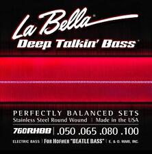 LA BELLA 760RHBB STAINLESS STEEL ROUND WOUND STRINGS FOR HOFNER BEATLE BASS