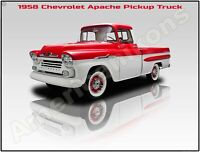 LARGE SIZE  12 X 16 1959 Chevrolet Apache Pickup Truck New Metal Sign