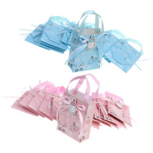 24xCute Girl Boy Baby Shower Candy Gift Bags Tote Birthday Party Favor