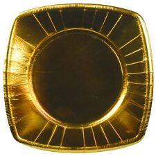 160 goldene Pappteller eckig 26 cm Weihnachten Party Einwegteller  Deko