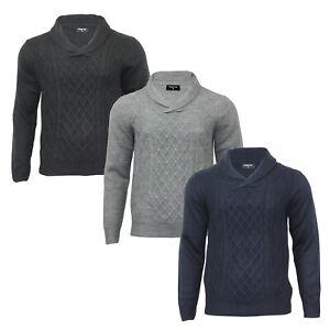 Men's Shawl Neck Winter Knitwear Long Sleeve Regular Fit Light Jumper Sweater